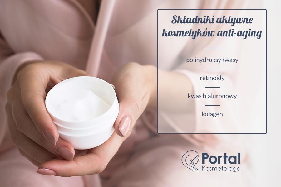 Składniki aktywne kosmetyków anti-aging